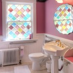 Antique Colored Glass adorn the Room 1 Private Bathroom
